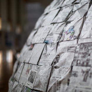 Newspaper Igloo